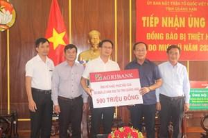 Mặt trận tỉnh Quảng Nam tiếp nhận 700 triệu đồng ủng hộ đồng bào bị mưa lũ