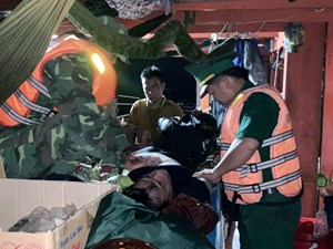 Quảng Nam: Một ngư dân đột quỵ trên biển