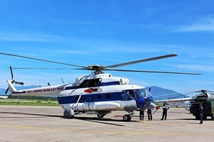 Huy động trực thăng tìm kiếm nạn nhân tại Thủy điện Rào Trăng 3