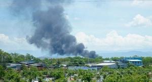 Ninh Thuận: Cháy tại khu vực chứa xăng dầu sân bay quân sự Thành Sơn