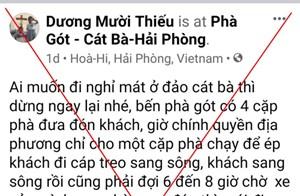 Phao tin bến phà Gót 'không đưa khách', Facebooker bị phạt 5 triệu đồng