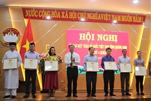 Quảng Nam: MTTQ tỉnh làm tốt công tác chống dịch Covid-19
