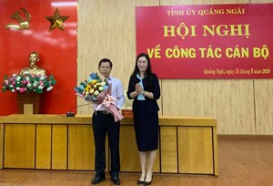 Trưởng ban Tổ chức được bầu làm Phó Bí thư Tỉnh ủy Quảng Ngãi