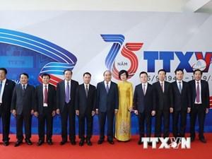 [ẢNH]Thủ tướng Nguyễn Xuân Phúc dự Lễ kỷ niệm 75 năm Ngày thành lập TTXVN