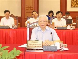 Tổng Bí thư, Chủ tịch nước chủ trì buổi làm việc với Ban Thường vụ Thành ủy Hà Nội