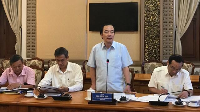 Phó Chủ tịch Ngô Sách Thực phát biểu tại buổi làm việc.