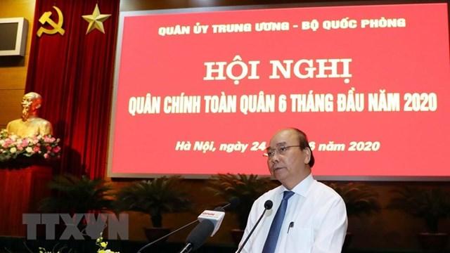Thủ tướng Nguyễn Xuân Phúc phát biểu tại Hội nghị. Ảnh: TTXVN.