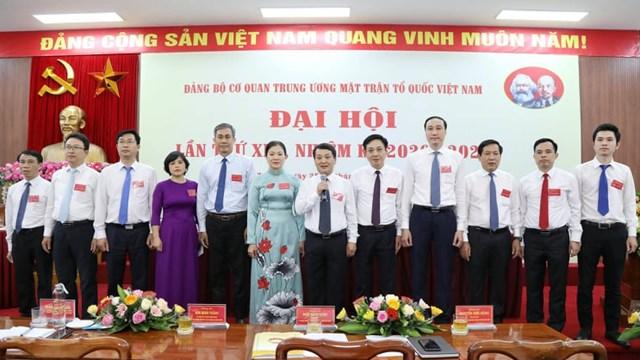 Ban Chấp hành Đảng bộ cơ quan Trung ương MTTQ Việt Nam khóa XIII ra mắt. Ảnh: Quang Vinh.