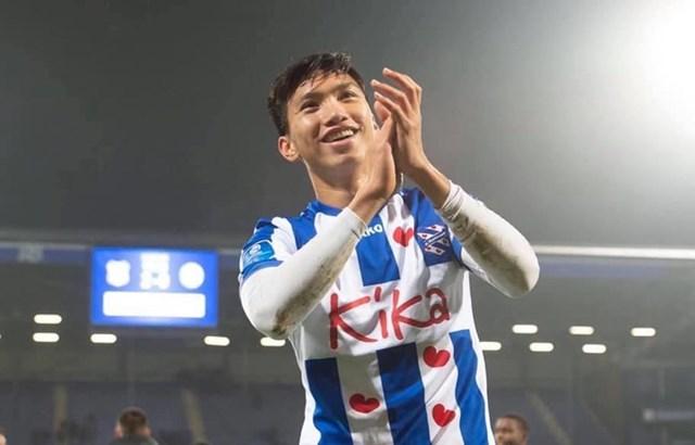 Đoàn Văn Hậu trong màu áo SC Heerenveen. (Ảnh: SC Heerenveen).