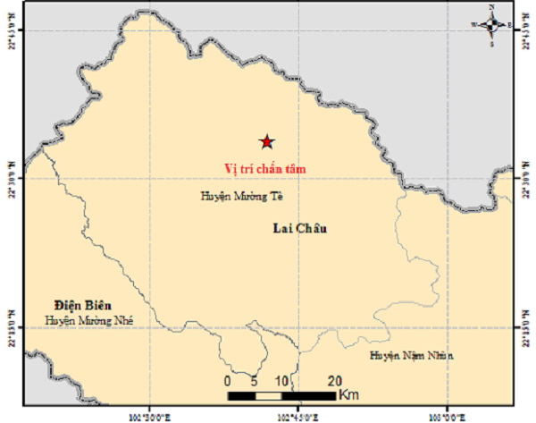 Bản đồ chân tấm động đất.