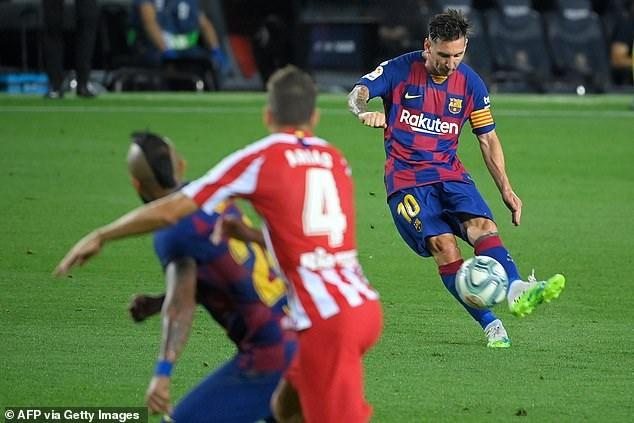 Nỗ lực của Messi không thể giúp Barcelona có được chiến thắng.