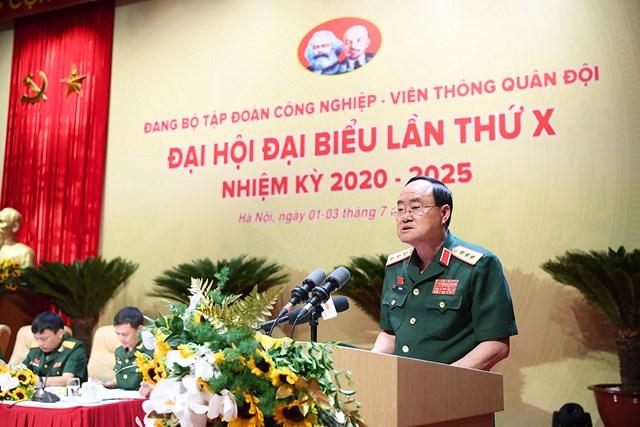 Thứ trưởng Bộ Quốc Phòng Thượng tướng Trần Đơn phát biểu chỉ đạo tại Đại hội.