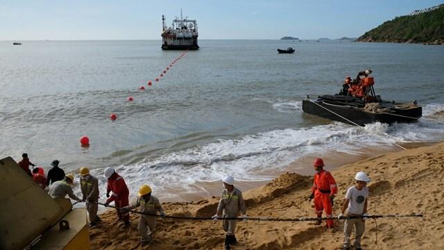 VNPT đang hoàn thiện xây dựng trạm cập bờ mới tại Quy Nhơn.