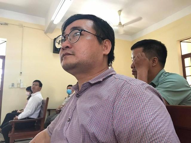 Ông Phạm Quốc Đạt tại phiên tòa sáng 10/7.
