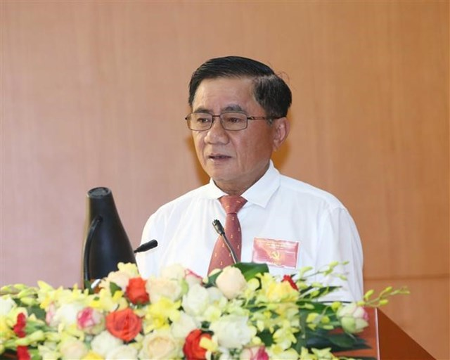 Ông Trần Cẩm Tú, Bí thư Trung ương Đảng, Chủ nhiệm Ủy ban Kiểm tra Trung ương. (Ảnh: Phương Hoa/TTXVN).