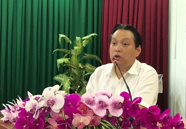 Ông Nguyễn Hưng Thịnh, Phó Tổng cục trưởng Tổng cục Môi trường phát biểu tại Hội nghị.