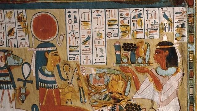 Chữ tượng hình Ai Cập cổ đại. (Nguồn: Google Arts and Culture).