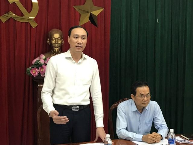 Phó Chủ tịch UBTƯ MTTQ Việt Nam Phùng Khánh Tài phát biểu tại buổi làm việc.