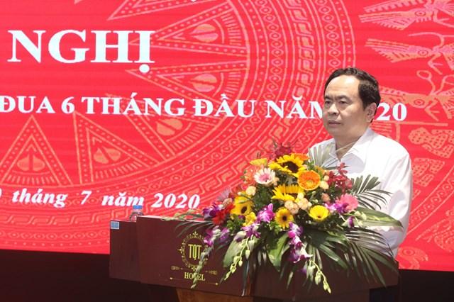 Chủ tịch Trần Thanh Mẫn phát biểu tại Hội nghị. Ảnh: Quang Vinh.