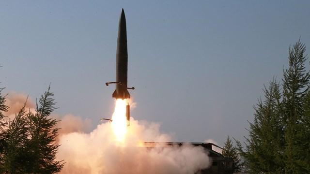Hình ảnh một vụ thử tên lửa của Triều Tiên.Nguồn: KCNA.