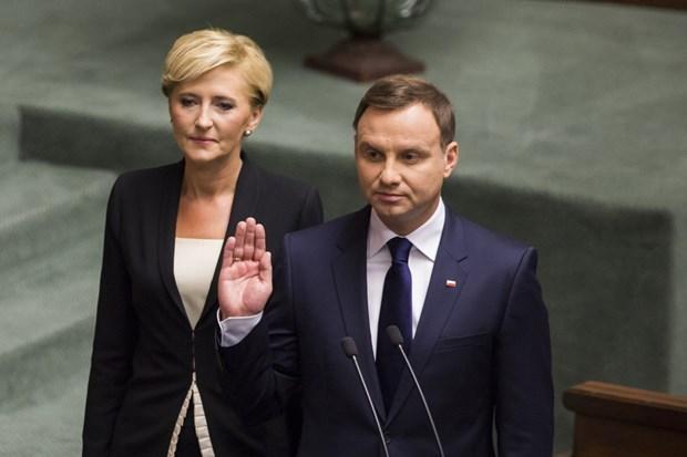 Đương kim Tổng thống Ba Lan tuyên thệ nhậm chức nhiệm kỳ hai - Ảnh 1