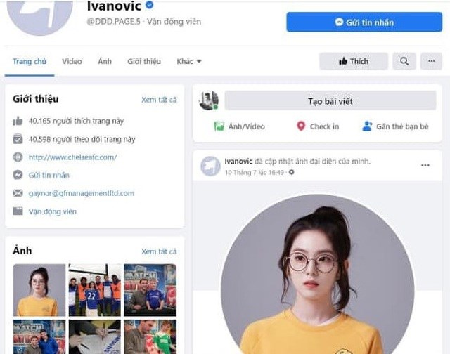 Tài khoản của Branislav Ivanovic bị hacker thay đổi ảnh đại diện.