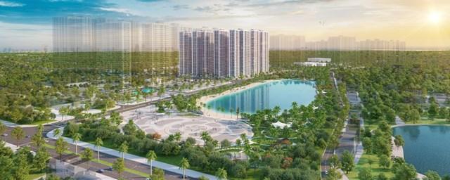 Imperia Smart City sở hữu vị trí đắc địa nằm kế cận công viên trung tâm và hồ điều hòa.