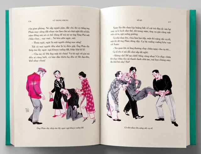 """Minh họa của họa sĩ Thành Phong mang tới sự tươi mới cho """"Số đỏ""""."""