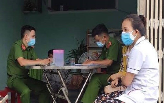 Công huyện Bình Sơn đề nghị gia đình quan tâm, giáo dục K.P.L. và K.T.T.V. tránh những hành vi vi phạm pháp luật. Ảnh: Công an huyện Bình Sơn.
