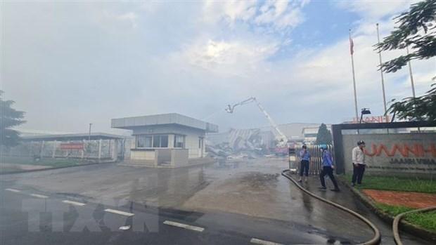 [ẢNH]Cháy lớn tại Công ty JAANH Vina ở Bắc Ninh, 1 nhà xưởng bị sập - Ảnh 2