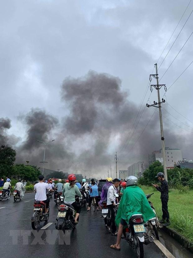 [ẢNH]Cháy lớn tại Công ty JAANH Vina ở Bắc Ninh, 1 nhà xưởng bị sập - Ảnh 3