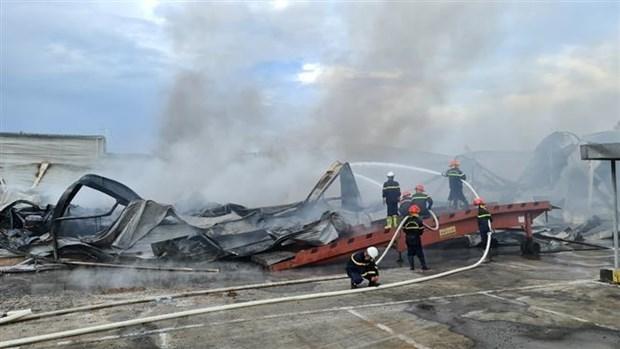 [ẢNH]Cháy lớn tại Công ty JAANH Vina ở Bắc Ninh, 1 nhà xưởng bị sập - Ảnh 1