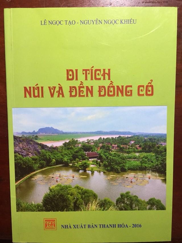 Bìa sách Di tích núi và đền Đồng Cổ.