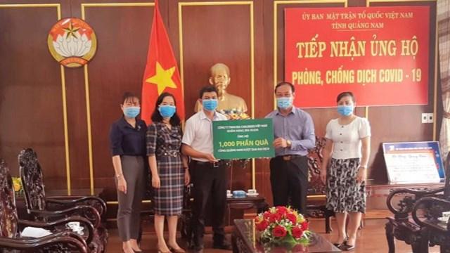 Mặt trận tỉnh Quảng Nam tiếp nhận 1.000 suất quà hỗ trợ phòng chống dịch Covid-19.