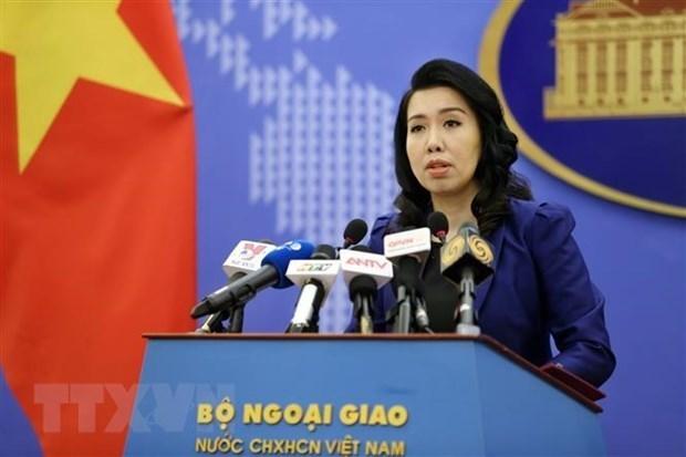 Người phát ngôn Bộ Ngoại giao Lê Thị Thu Hằng. (Ảnh: Dương Giang/TTXVN).