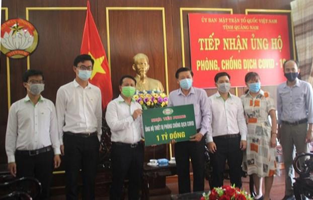 Mặt trận tỉnh Quảng Nam tiếp nhận thiết bị y tế phòng, chống dịch Covid-19.