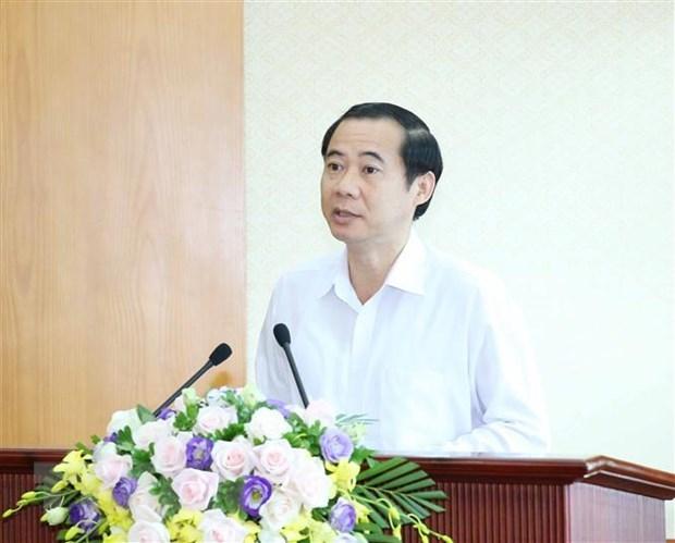 Ông Nguyễn Thái Học, Phó Trưởng Ban Nội chính Trung ương phát biểu khai mạc toạ đàm. Ảnh: TTXVN.