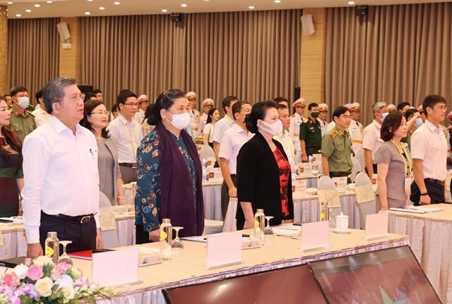 Chủ tịch Quốc hội Nguyễn Thị Kim Ngân tổng duyệt Đại hội đồng AIPA 41. Ảnh: TTXVN.