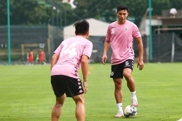 Đoàn Văn Hậu gặp đa chấn thương nên bỏ lỡ nhiều trận đấu tới đây cùng Hà Nội FC. (Ảnh: Hiển Nguyễn/Vietnam+).