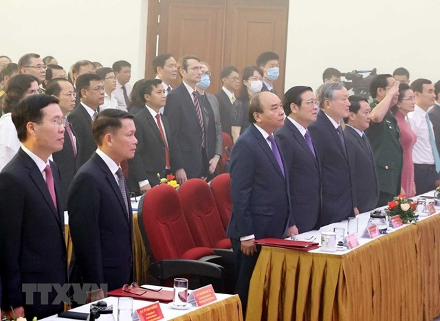 [ẢNH]Thủ tướng Nguyễn Xuân Phúc dự Lễ kỷ niệm 75 năm Ngày thành lập TTXVN - Ảnh 17