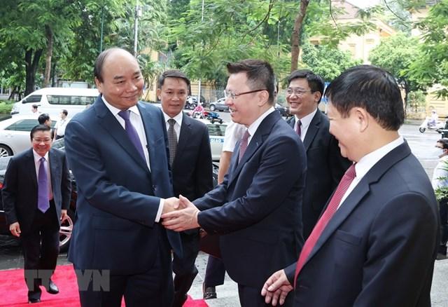 [ẢNH]Thủ tướng Nguyễn Xuân Phúc dự Lễ kỷ niệm 75 năm Ngày thành lập TTXVN - Ảnh 1
