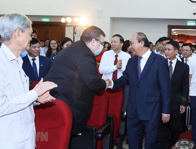 [ẢNH]Thủ tướng Nguyễn Xuân Phúc dự Lễ kỷ niệm 75 năm Ngày thành lập TTXVN - Ảnh 14