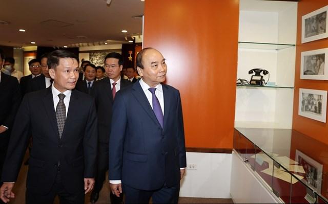 [ẢNH]Thủ tướng Nguyễn Xuân Phúc dự Lễ kỷ niệm 75 năm Ngày thành lập TTXVN - Ảnh 11