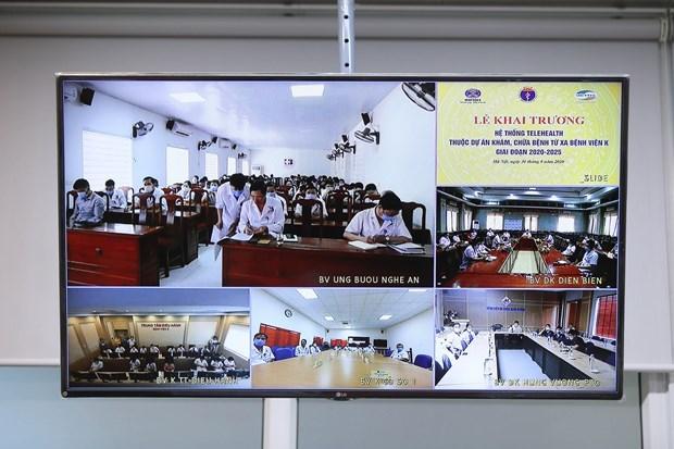 Các bệnh viện triển khai Đề án khám chữa bệnh từ xa. (Ảnh: PV/Vietnam+).