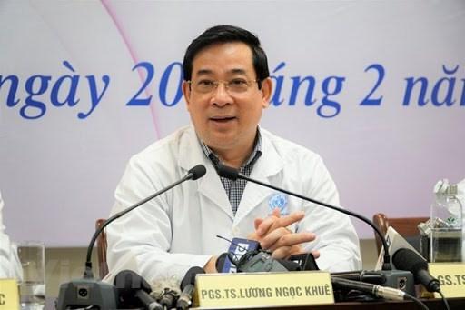 Phó giáo sư Lương Ngọc Khuê, Cục trưởng Cục Quản lý Khám, chữa bệnh. (Ảnh: Hiếu Hoàng/Vietnam+).