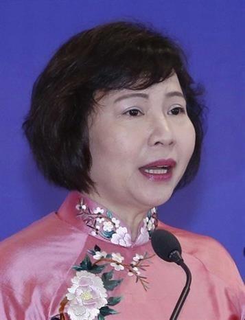 Bà Hồ Thị Kim Thoa, cựu Thứ trưởng Bộ Công Thương. (Ảnh: TTXVN).