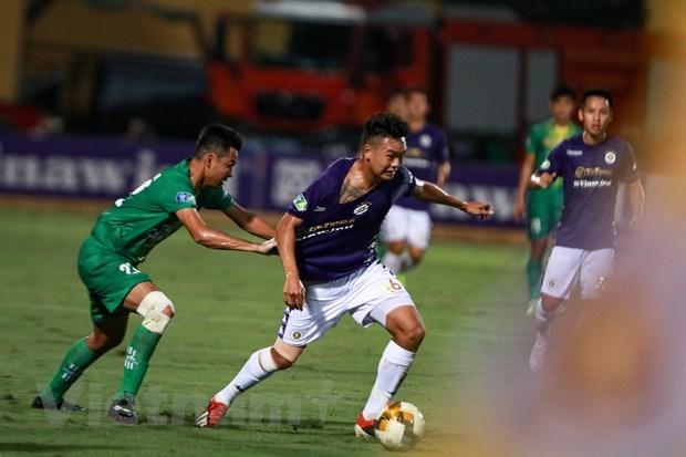 Thành Chung là cầu thủ đặc biệt với câu lạc bộ Hà Nội, cứu cánh quan trọng trong cơn khủng hoảng nhân sự. (Ảnh: Hiển Nguyễn/Vietnam+).