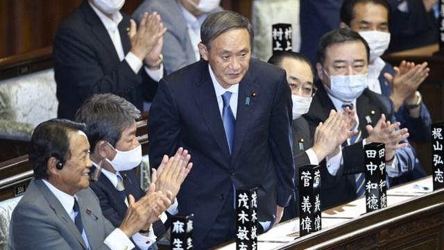 Tân Thủ tướng Nhật Bản Suga Yoshihide (Ảnh: Kyodo).