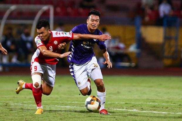 HLVChung Hae-seong phàn nàn về lịch thi đấu cúp Quốc gia 2020, khiến cầu thủ TP HCM không đảm bảo thể lực. (Ảnh: Hiển Nguyễn/Vietnam+).