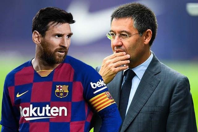 Chủ tịch Bartomeu mất uy tín lớn sau vụ Messi đòi ra đi.